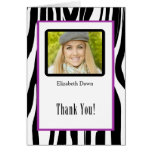 Graduation Thank You Zebra Photo Card Note Card