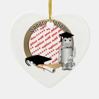 Graduation Time for Robo-x9! Photo Frame Christmas Ornaments