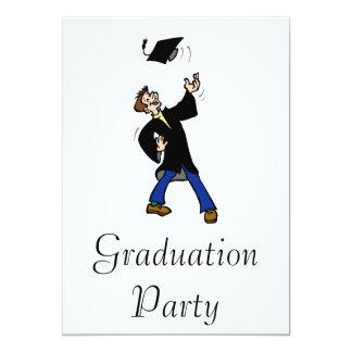 Graduation Toss 13 Cm X 18 Cm Invitation Card