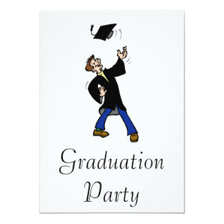Graduation Toss 13 Cm X 18 Cm Invitation Card