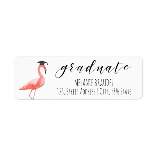Graduation tropical return address label