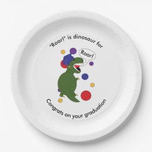 Graduation Tyrannosaurus Rex Personalize Paper Plate  sc 1 st  Zazzle & Cartoon Dinosaur Plates   Zazzle.co.uk