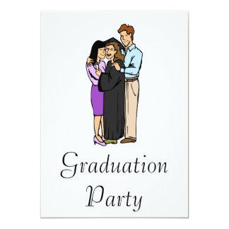 Graduation with Family 13 Cm X 18 Cm Invitation Card