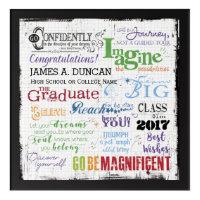 Graduation Word Art Keepsake