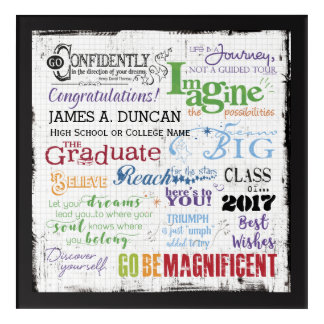 Graduation Word Art Keepsake