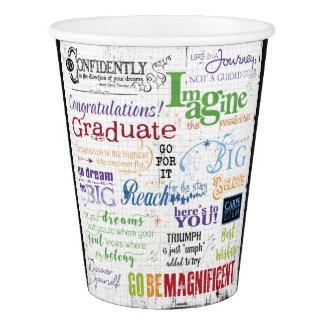 Graduation Word Art Paper Cup