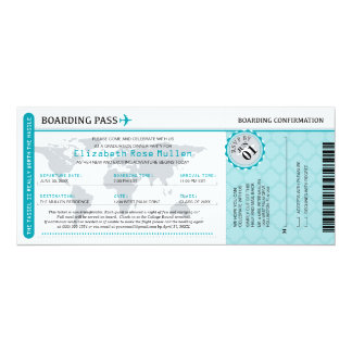 Graduation World Traveler Boarding Pass Card