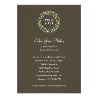 Graduation Wreath Graduation Party Invitation Personalized Invite