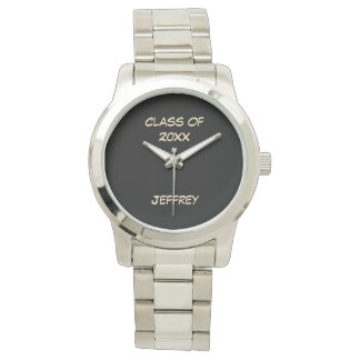 Graduation Wrist Watch, Class of, Silver Color Watch