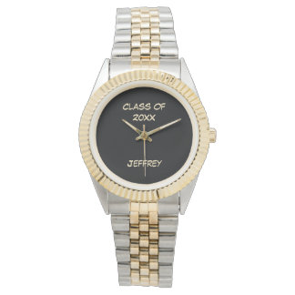 Graduation Wrist Watch, Class of, Two Tone, Unisex Wristwatch
