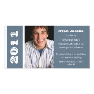 Graduation Year Invitation-blue Personalised Photo Card