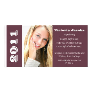 Graduation Year Invitation-burgundy Card
