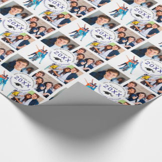 Graduation Your Name Photos and Class Year Wrapping Paper