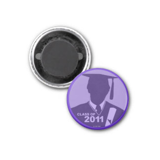 Graduations Class of 2011 Magnet Cap Gown Purple
