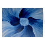 graemes blue flower greeting card