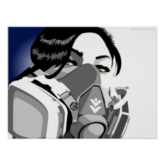 graf mask girl posters