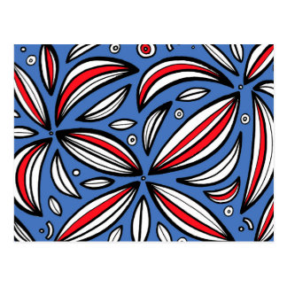 Grafals Abstract Expression Red Blue Postcard