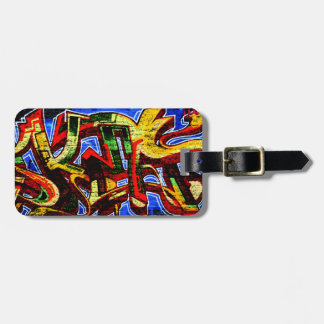 Graffiti 17 Luggage Tag with Customizable Details