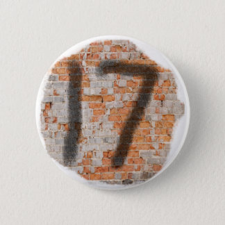 Graffiti 17th Birthday Gifts 6 Cm Round Badge