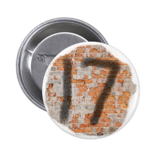 Graffiti 17th Birthday Gifts 6 Cm Round Badge