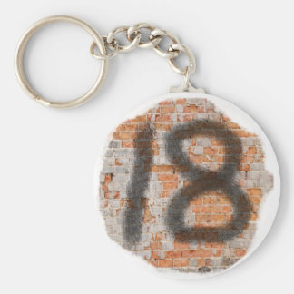Graffiti 18th Birthday Gifts Basic Round Button Key Ring