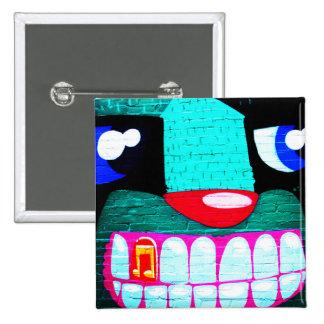 Graffiti 20 15 cm square badge