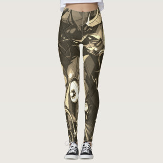 Graffiti Abstract Camo Leggings