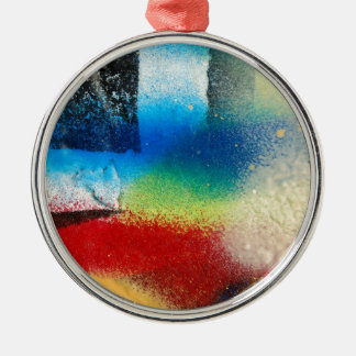 graffiti abstract paint background christmas ornament