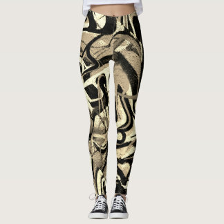 Graffiti Abstract Tiger Stripe Leggings