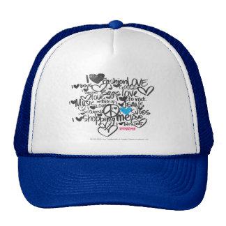 Graffiti Aqua Trucker Hat