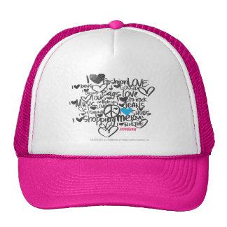 Graffiti Aqua Trucker Hats