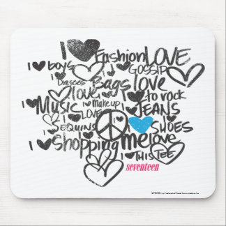 Graffiti Aqua Mouse Mat