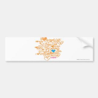 Graffiti Aqua/Orange Bumper Sticker