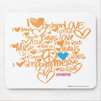 Graffiti Aqua/Orange Mouse Pad
