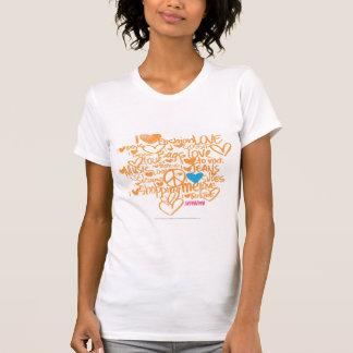 Graffiti Aqua-Orange T-Shirt