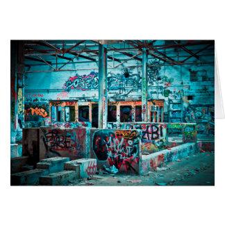 Graffiti Art  Abandoned Building Blank Card