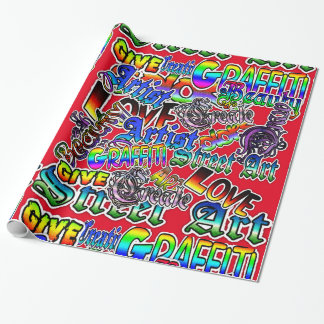 Graffiti Art Colorful Wrapping Paper