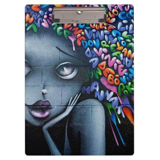 Graffiti Art Cute Girl Clipboard