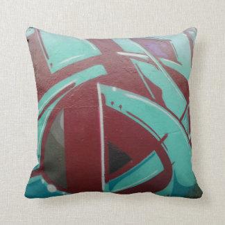 Graffiti Art Grade A Cotton Throw Pillow 16x16