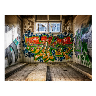 Graffiti Art Lost  Abandoned Building Postcard
