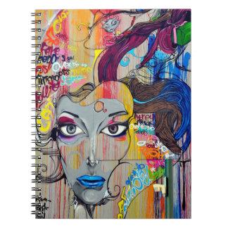 Graffiti Art Spiral Note Book