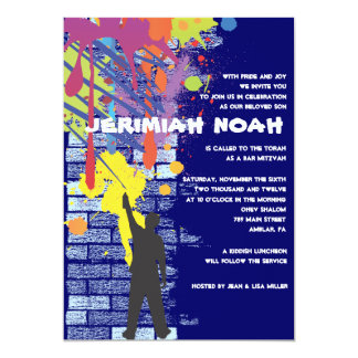 Graffiti Artist Bar Bat Mitzvah Invitation
