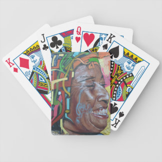Graffiti Artwork Face Bicycle Playing Cards