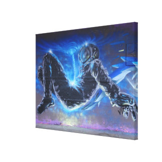 Graffiti Astronaut Canvas Print