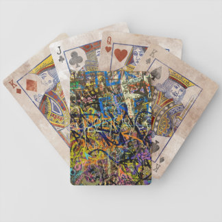 Graffiti Background Bicycle Playing Cards