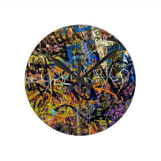 Graffiti Background Clock