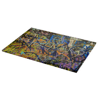 Graffiti Background Cutting Board