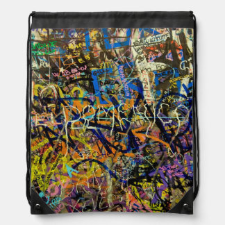 Graffiti Background Drawstring Bag