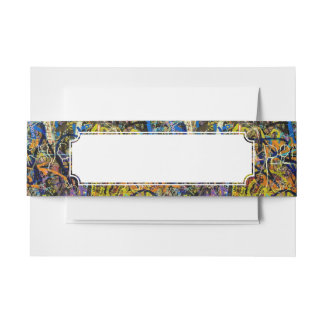 Graffiti Background Invitation Belly Band