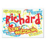 Graffiti Bar Mitzvah RSVP Custom Invitations